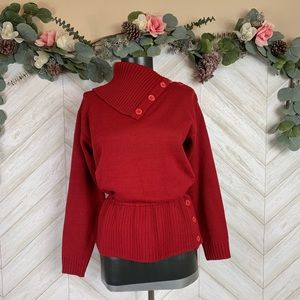 Nordstrom Red Lambswool blend sweater Small